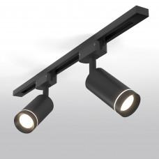 Трековый светодиодный светильник для однофазного шинопровода Glory Черный 7W 4200K